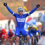 Fabio Jakobsen, pictured here, won the 200km Scheldeprijs in Schoten, Belgium, today. Photo: Getty Images Sport
