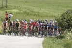 A bunch of riders in action during stage nine of the Giro d'Itali
