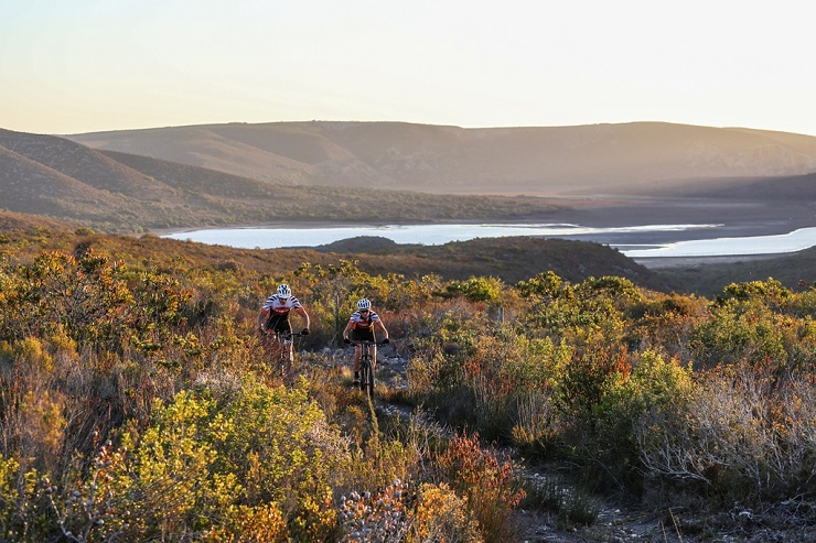 The De Hoop Vlei MTB Experience spends two of its three days traversing the wetlands