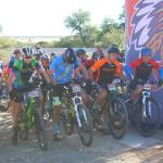 Pieter-Gys de Kock won the men's junior race of the Schools MTB League in the first Northern Cape event. Photo: Supplied