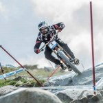 France's Amaury Pierron won the elite men's final of the UCI Downhill Mountain Bike World Cup in Fort William. Photo: Facebook/Fort William Mountain Bike World Cup