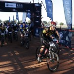Mountain bikers start stage one of the Liberty Waterberg Encounter