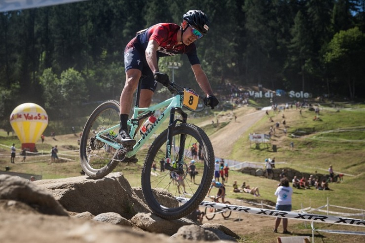 South Africa's Alan Hatherly finished eighth in the men's under-23 race in the UCI Mountain Bike World Cup in Vallnord, Andorra, today. Photo: Michal Cerveny