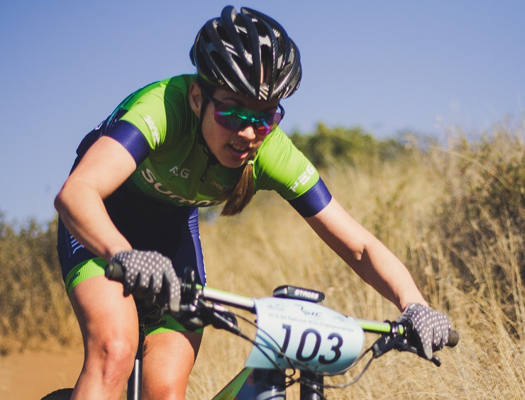 Candice Lill reached new heights in mountain-biking when she clinched the South African MTB XCO Cup Series title following the fourth and final event at Mankele in Mbombela last month. Photo: Milan de Beer Photography