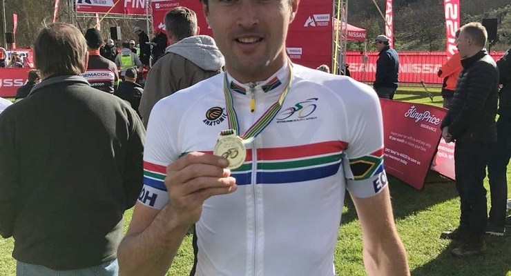 "Gert Heyns continued his good form by winning the South African cross-country marathon championship in Grabouw yesterday, a race he described as ""one of my main goals for the year"". Photo: Supplied"