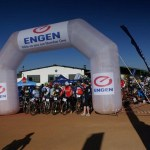 Declan Sidey and Samantha Sanders won the 70km feature of the Ngwenya Glass MTB Challenge on Saturday. Photo: facebook.com/pg/NgwenyaglassMTB/photos/