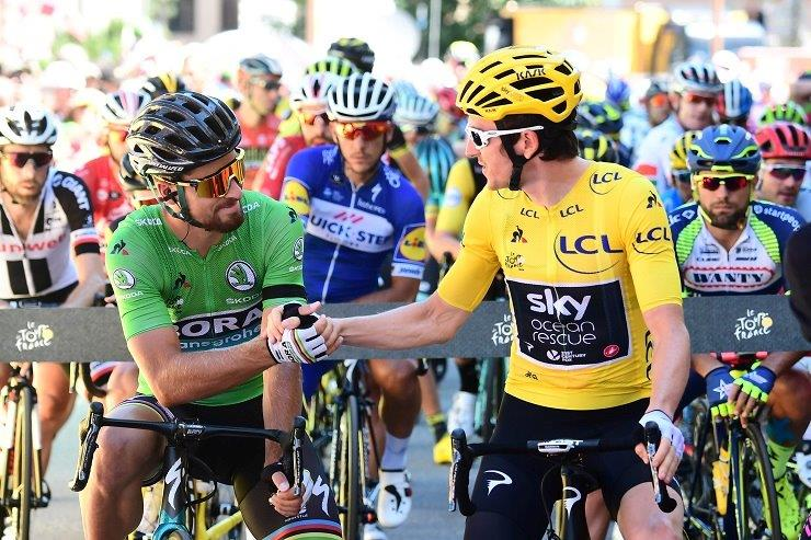 Bora-Hansgrohe's Peter Sagan sprinted to victory on the 169.9km 13th stage of the Tour de France inValence today. Photo: ASO/Alex Broadway