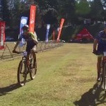 Andrew Hill and Henry Liebenberg (pictured) won the third and final stage and with it the title of The Midlands MTB Stage Race. Photo: Facebook/@themidlandsMTB