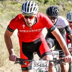 Road specialist Craig Boyes (front) enjoyed an unexpected victory at the Karoo to Coast mountain-bike race today. Photo: Oakpics.com