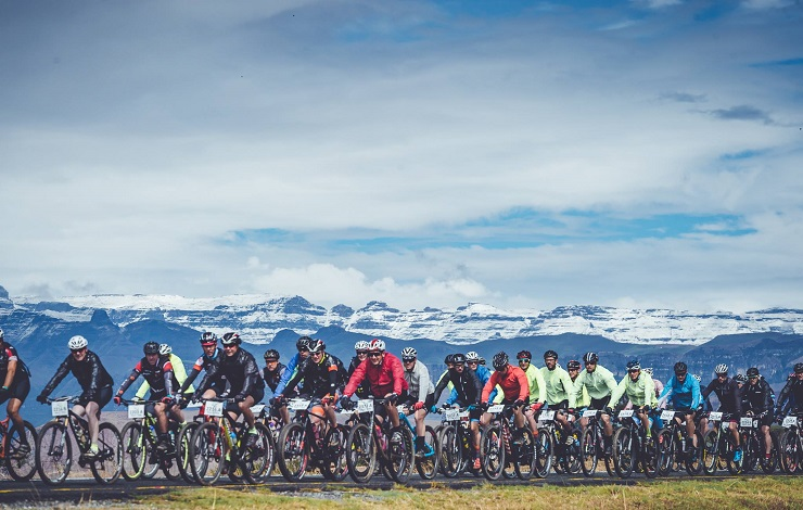 Mountain bikers in action during last year's Berg and Bush 'Great Trek
