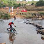 Mountain bikers in action during stage two of the Swazi Frontier