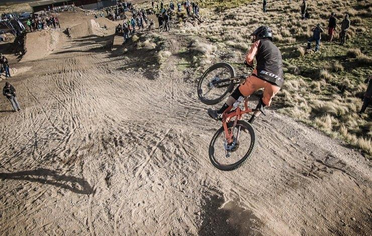 Andrew Neetling in action during the Whip off event at the Maluti Mountain Bike Festival. Photo: Jean-Pierre Nortje