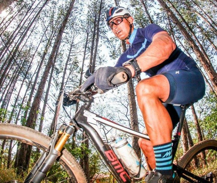 Dion Guy (pictured) will be hoping for an injury-free ride in the gruelling 1 070km The Munga mountain-bike race which starts tomorrow. Photo: oakpics.com