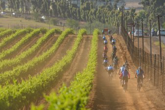 Sanlam MTB Invitational stage one route action