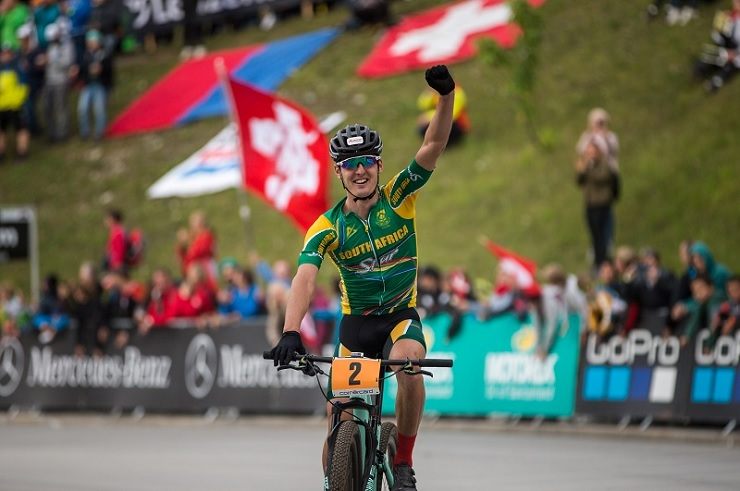South Africa's Alan Hatherly pictured winning the under-23 UCI World Champs earlier this year. Photo: Michal Cerveny
