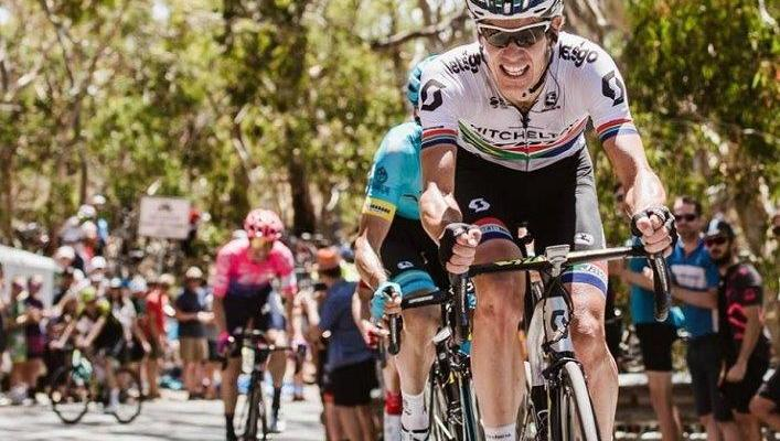 SA national road champion Daryl Impey dedicated his historic Tour Down Under victory today to long-time teammate Mathew Hayman. Photo: Chris Auld/Tour Down Under