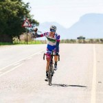 Gregory de Vink (pictured) won the Western Province Road Championship road race today. Photo: Facebook/Vye Cycle Kit