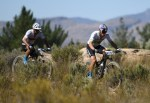 Cannondale Factory Racing 1's Manuel Fumic and Henrique Avancini pictured during the opening stage of the Tankwa Trek today. Photo: Twitter/@tankwatrek