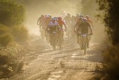 Riders moving along a jeep track during the TransCape MTB Encounter. Photo: Jacques Marais