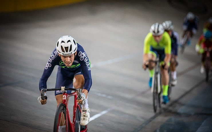 Team Enza's David Maree was pushed to the limits before winning the points race at the SA National Track Championships