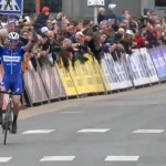 Deceuninck–Quick-Step's Zdeněk Štybar soloed to victory in the 200km Omloop Het Nieuwsblad in Belgium today. Photo: Tiz.cycling