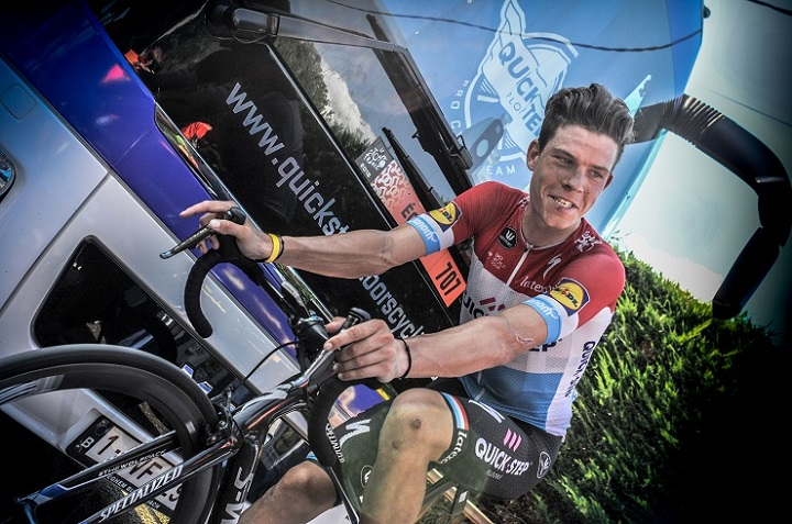 Bob Jungels, pictured after stage 16 of the 2018 Tour de France