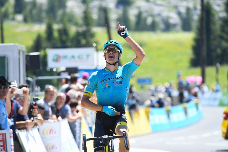 Astana's Jakob Fuglsang, pictured on stage 8 of the 2017 Criterium du Dauphine