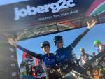 Sarah Hill (left) is partnering Galileo Risk teammate Theresa Ralph in the joBerg2c