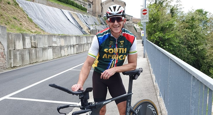 Gary Coetsee feels pleased with his form as he gears up for the UCI Para-Cycling Road World Cup