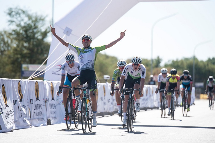 Gustav Basson won stage one of the Tour de Limpopo