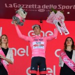 Valerio Conti took the pink jersey onstage six of the Giro d'Italia