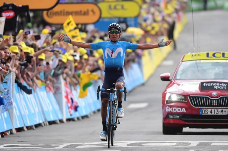 Nairo Quintana soloed to victory in stage 18 of the Tour de France