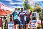 William Mokgopo (middle) won the elite men's race at the Gauteng XCO Championships