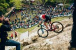 Pauline Ferrand Prevot won the elite women's XCO race at the UCI MTB World Cup