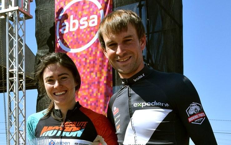 Stuart Marais and Christie-Leigh Hearder were the champions at the Mandela Day MTB Dash