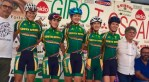 Joanna van de Winkel (second from right) placed 28th overall in the Giro della Toscana