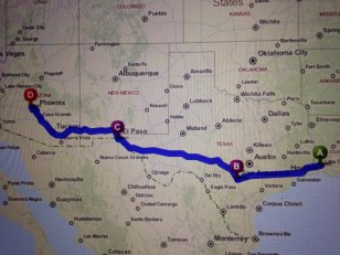 My route to Phoenix