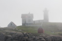 As the fog rolls in Nubble Light House