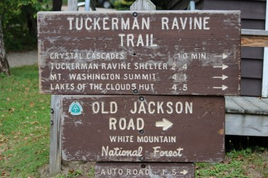 White Mountains trails sign