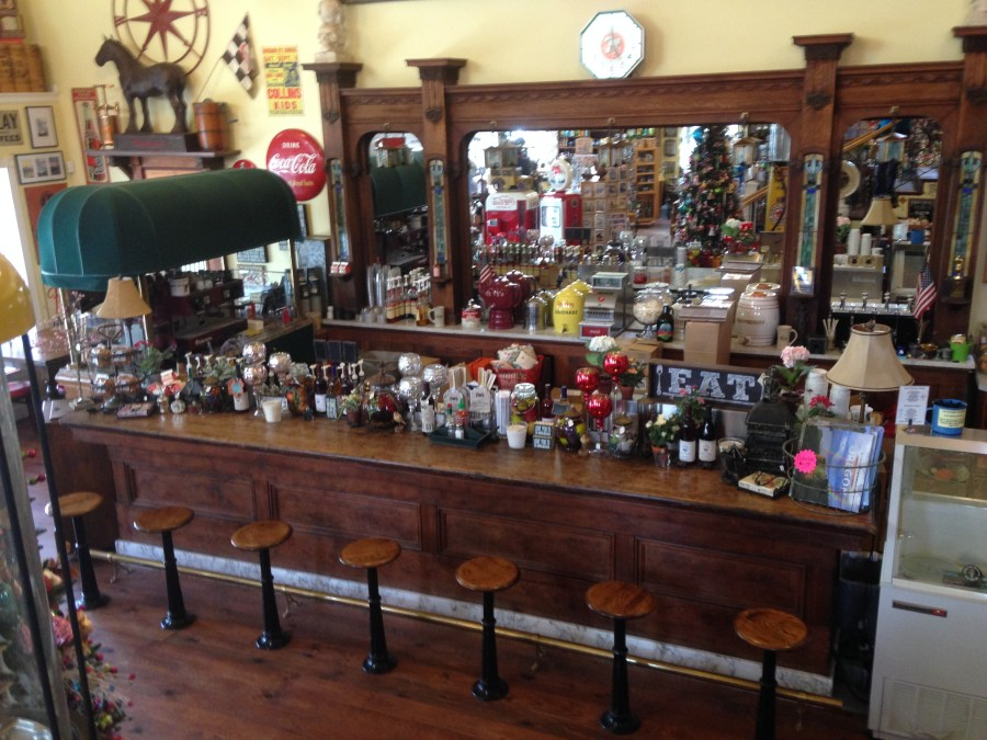 Ice cream parlor at the General Store in Troutdale Oregon
