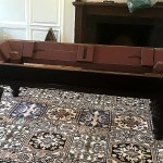 Beautiful antique pool table, Brookline, Mass. Just one problem… We will need to repair its cracked slate