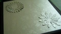 Flower designs for Letter A background paper