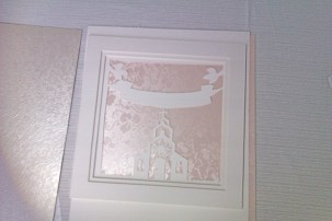 Papercut with pink broderie background