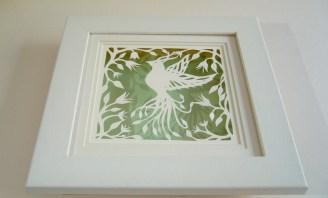 Bird of Paradise papercut framed2