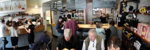 This panoramic shot shows the scope of Cochon Butcher in the Warehouse District of New Orleans.