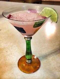 Rhubarb Gin Martini