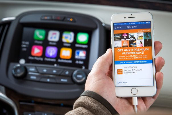 Through Apple CarPlay and OnStar AtYourService, Buick offers a smart, technological customer experience for book lovers. (Photo by John F. Martin for Buick) © General Motors