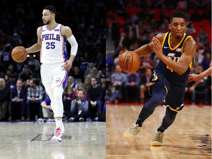 Image result for ben simmons and donovan mitchell