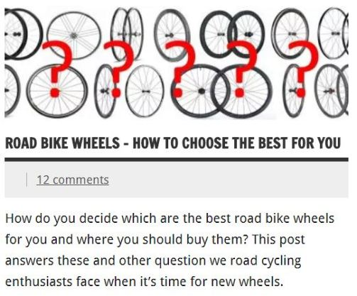 How to choose the best road bike wheels for you
