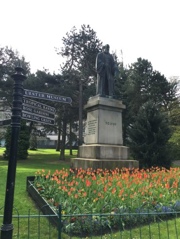 Statute of Lord Kelvin, the Scientist who the Degrees Kelvin is named after.